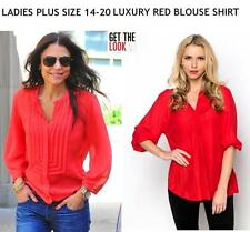 Polyester Business Floral Plus Size Tops & Shirts for Women