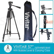 "Lightweight Aluminum Camera Tripod For DSLR SLR Digital Camera - 57"" - Black"