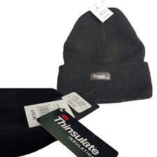 Unisexe Thermique Thinsulate Bonnet Noir Utilisation quotidienne et Extérieurs