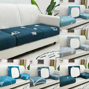 1-3 Seater Sofa cushion covers Elastic Stretchy Protector Seat Pad Covers Home