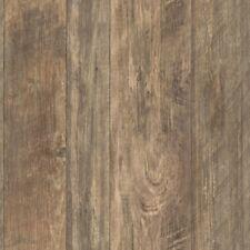 Rustic Living Brown Rough Cut Lumber on Sure Strip Wallpaper LG1323