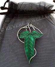Los elfos Hoja Broche Pin Verde Hobbit Lotr Señor De Los Anillos Lorien capa de esmalte