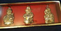 Gorham Silver plated Snowmen Ornaments Set of 3 NIB