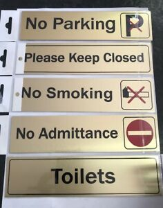 Door Signs Toilets,No Parking, Please Keep Closed,No Smoking, No Admittance