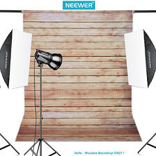 Neewer 5x7ft Striped Wooden Cotton Backdrop Background for Photography Studio