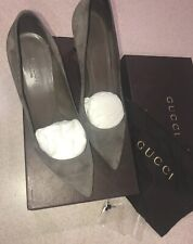 Gucci Women's Classic Stiletto Pumps Suede Leather Heels Sz 37.5