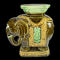 Vintage Elephant Plant Stand Made in Japan Lucky Elephant Stand Ceramic