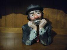 Emmett Kelly Jr Vintage Chalkware Hobo Clown Bust Statue by Esco, Why Me?