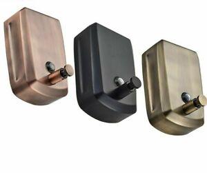 Brass Liquid Soap Dispenser 800ml Wall Mounted Black Accessories For Bathroom