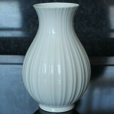 "Vintage Royal Copenhagen White Ribbed Design Vase, 5.25"", 1969/73, 3487"