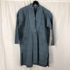 C1920 French Blue Linen Workwear Shirt Biaude