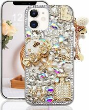 Sparkly Bling Phone Case,Glitter Diamond Rhinestones Crystal Soft Skin for Women