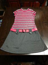 Nwot Pink Violet Gray Pink Love Dress Size Girl's 14/16