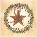 Art Print, Framed or Plaque by Linda Spivey - Barn Star Round Wreath - LS696-R