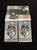 Lot (2) Upper Deck 2008 SP Authentic Packs-*Poss Rookie Auto or Tom Brady Relic*