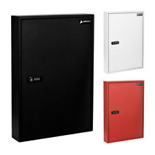 AdirOffice Steel 100 Key Storage Cabinet Secure Box W/Combination and Key Lock