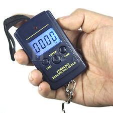 40kg Portable Digital Weighing Hanging Scales Fishing Suitcase Luggage Postal B