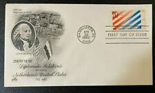 MR BRISKET'S USA AND NETHERLANDS 1982 DIPLOMATIC RELATIONS  ARTCRAFT FDC