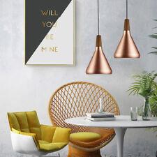 Wood Ceiling Lamp Kitchen LED Chandelier Lighting Shop Mini Modern Pendant Light