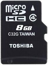 Card Memory Micro SD HC 8gb Toshiba M102 Class 4 Adaptor