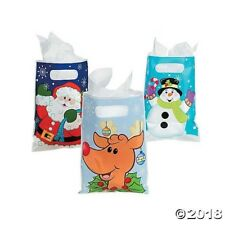 36 CHRISTMAS Holiday Party Favor Plastic Goody Treat Loot CHARACTER BAGS