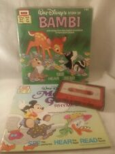 Walt Disney BAMBI & MOTHER GOOSE RHYMES Cassette and Book Read Along