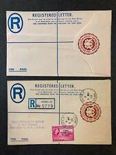 GHANA - REGISTERED LETTER - 4p & 6p Ghana Registration Fee Used/Mint