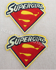 1 EMBROIDERED GIRL SUPERGIRL APPLIQUE SUPER IRON ON SEW ON PATCH CLOTHES CRAFT