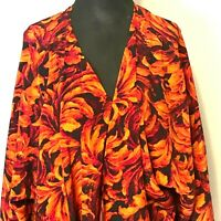 LuLaRoe Shirley Open Cardigan Draped Kimono Duster Flame Colors HOT! Women's Lrg