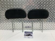 06-08 DODGE RAM 1500 2500 REAR BACK SEAT HEADREST SET HEAD RESTS BLACK CLOTH OEM