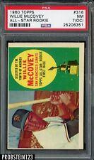 1960 Topps #316 Willie McCovey San Francisco Giants RC Rookie HOF PSA 7 NM (OC)