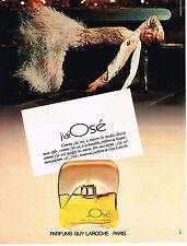 PUBLICITE ADVERTISING 044  1979  GUY LAROCHE    parfum J'AI OSE