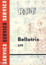 VEB STELLA SOLE radio montagna radio Bellatrix 579 Service Officina QUADERNO DDR 1967