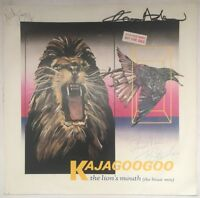 """KAJAGOOGOO THE LIONS MOUTH 12"""" EMI UK 1984 NEAR MINT AND SIGNED FAST DISPATCH"""