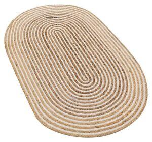 Rug 100% natural jute reversible handmade oval rug area carpet modern living rug