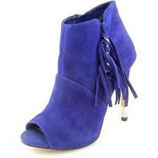 GUESS Women's Dark Blue Aziz Suede PEEP Toe Bootie Heel Shoes Sz 10 Ret