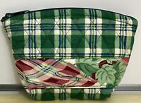 Vera Bradley Design Prototype Small Cosmetic in Green Plaid