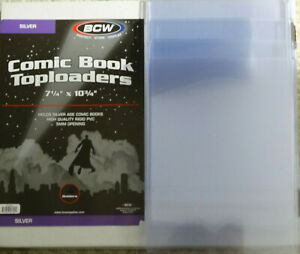 5 Loose BCW Silver Age Comic Book Topload Holder Toploaders New