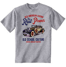Vintage American Car Lincoln Modell L-NEU Baumwolle T-Shirt