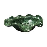 Vintage Soap Dish Ceramic Green Lotus Leaf Thai Handmade Crafted Bathroom Decor