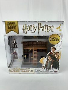 Harry Potter Ollivander's Wand Shop Mini Playset w/ Tiny Figures NEW Collectible