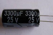 Lotto di 10 Condensatori 3300µF 25V JAKEC raster 5.08mm