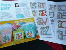 CROSS STITCH CHART FULL MEERKAT  ALPHABET CHARTS CUTE PARTY ANIMAL LETTERS