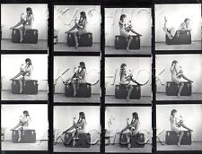 Jeanine Nude on Antique Chest R HENDRICKSON Negatives & Photo Contact Sheet #945
