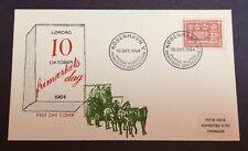 DENMARK CACHET FIRST DAY COVER  OCT 10, 1964 25TH ANNIV STAMP DAY SCOTT #413