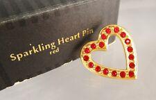 Pin Brooch in Original Box Vintage 1992 Avon Red Sparkling Heart