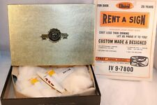 Dinky Toys 715 Beechcraft C55 Baron plane boxed RARE PROMOTIONAL RENT A SIGN 2e