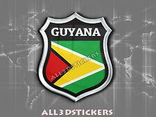 Autocollant Résine 3D Relief Emblème Drapeau Guyane - Tous les Drapeaux du monde