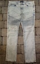Pacsun Biker Stacked Skinny Denim Jeans Mens 35 X 31 New Without Tags