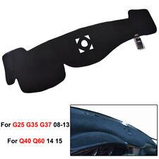 XUKEY Dashboard Cover Dashmat For Infiniti G25 G35 G37 Q40 Q60 2008-2015 12 14